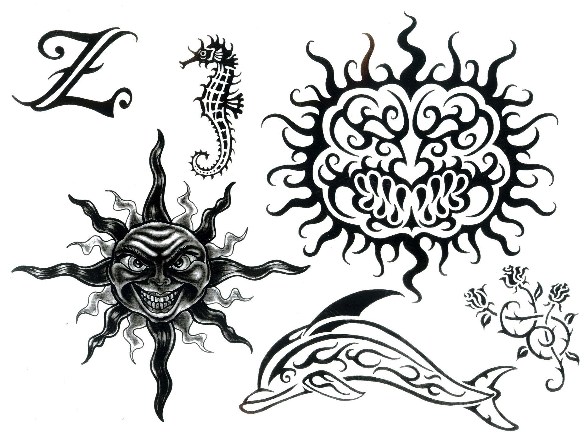 Ornamenty / černobílý