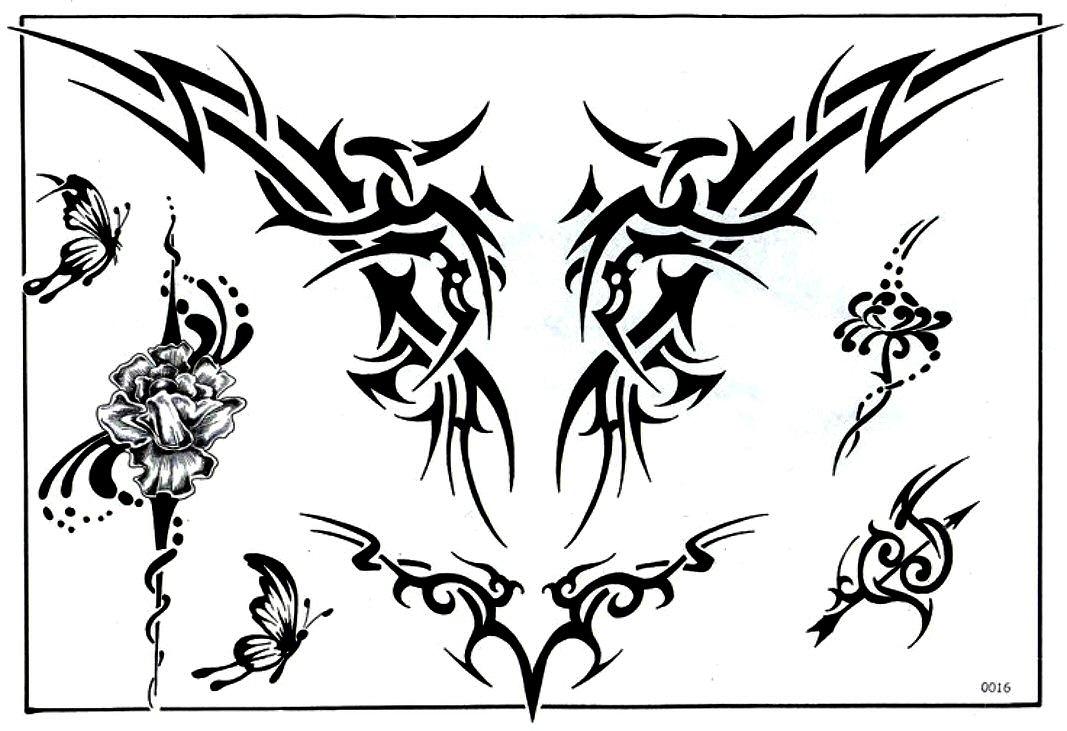 Motivy a vzory katalog tattoo tribal designs gallery samolepka picture