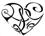Srdce černobílý