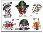 motivy tetování Vojenský