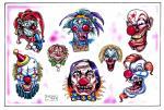 motivy tetování Joker, klauni