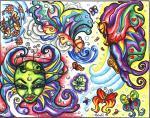 motivy tetování Psychadelie
