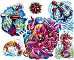 Kotva Chobotnice Vodní Mořský