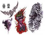 motivy tetování Příšery