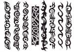 Armband Černobílý Tribal